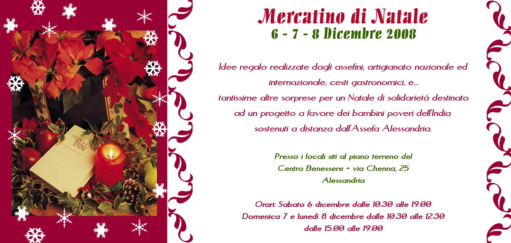 Mercatino di natale 6 7 8 dicembre 2008 - Mercatino alessandria ...